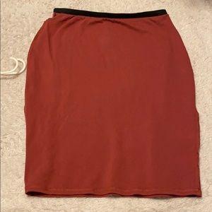 Uniquely sewn skirt
